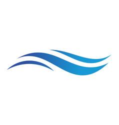 blue sea waves icon logo vector image