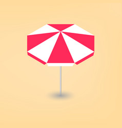 Bright beach umbrella 3d vector