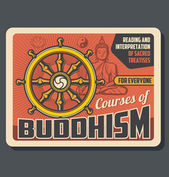 buddhism sacred religion teaching courses vector image