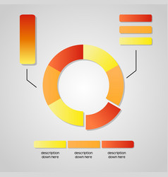 business chart graphic data diagram vector image