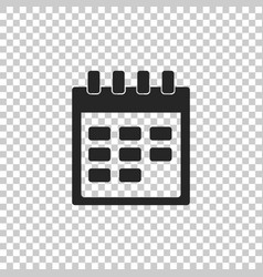 calendar icon isolated on transparent background vector image