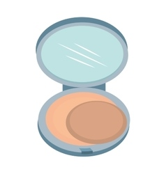 Compact poowder makeup isolated vector