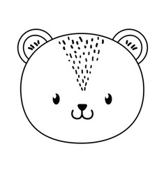 Cute bear woodland character vector