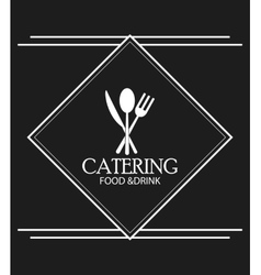 Cutlery catering service menu food icon vector