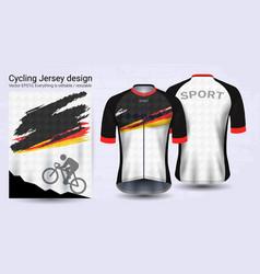 Cycling jerseys short sleeve sport mockup vector
