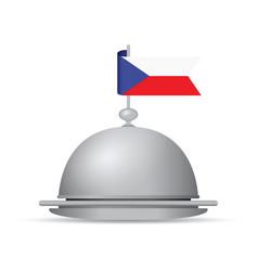 Czech republic flag dinner platter vector