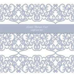 Damask Lace Invitation card with ornaments vector