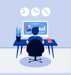 Data analysis design concept vector