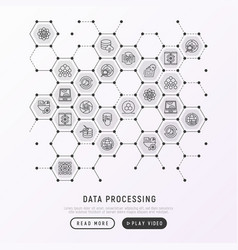 Data processing concept in honeycombs vector