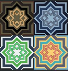 decorative pattern different color option vector image