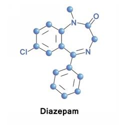Diazepam calming medication vector