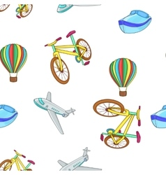 Different kind of transportation pattern vector image