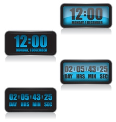 Digital clock and countdown vector image