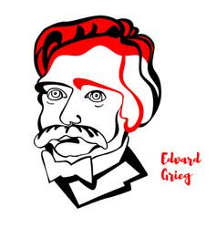 edvard grieg portrait vector image