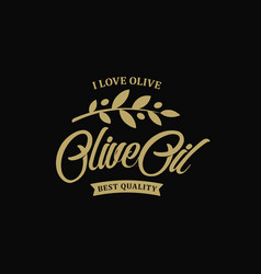 Extra virgin olive oil premium quality olives vector