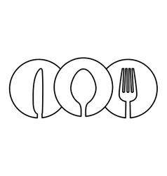 Figure cutlery icon image design vector