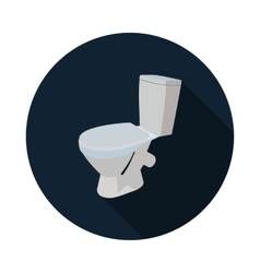 Flat icon toilet 3d vector