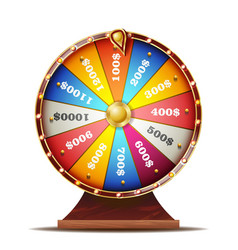 Fortune wheel realistic 3d object casino vector
