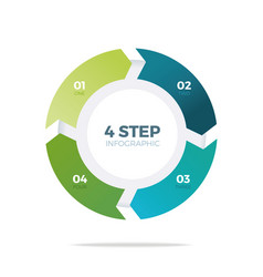 Four step circle infographic vector