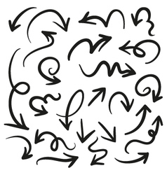 hand drawn arrow line vector image