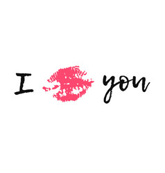 hand drawn fashion lipstick kiss vector image