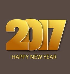 Happy new year 2017 typography vector