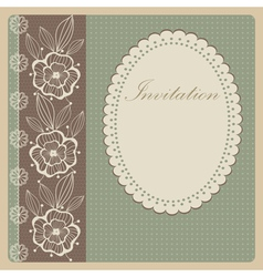 Invitation with lace vector