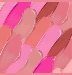 Lipstick smears background vector