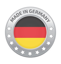 Made in germany silver badge vector