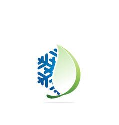 Natural cold snow logo design template vector