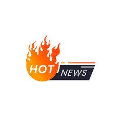Popular news icon hot news for journalists vector