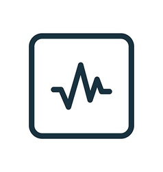 pulse icon Rounded squares button vector image