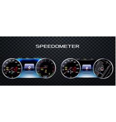 realistic speedometer eps 10 vector image