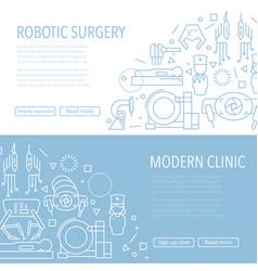 robotic surgery banner vector image