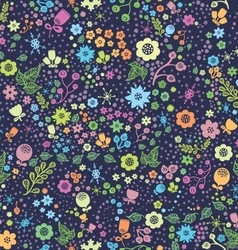 Seamless flower pattern floral background vector image