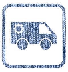 Service car fabric textured icon vector