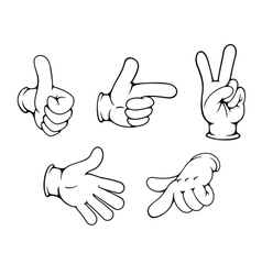Set of positive hands gestures vector image