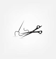 sewing scissors vector image