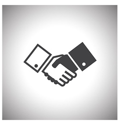 shake hand icon vector image