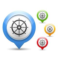 Ship Wheel Icon vector