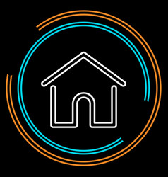 simple home thin line icon vector image