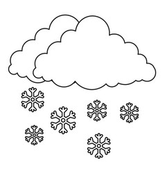 snow icon outline style vector image