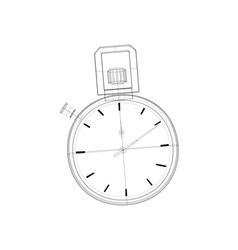 Stopwatch Wireframe vector