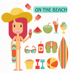 Summer vacation play on the beaches vector