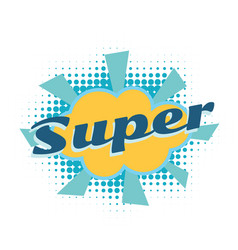 super comic word vector image