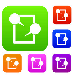 tablet chatting set collection vector image