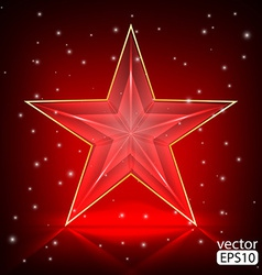 The bright red star vector