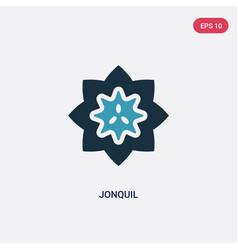 Two color jonquil icon from nature concept vector