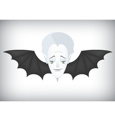 Vampire airlines regular flights on Halloween vector image