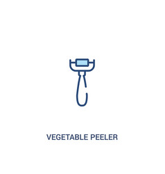 Vegetable peeler concept 2 colored icon simple vector